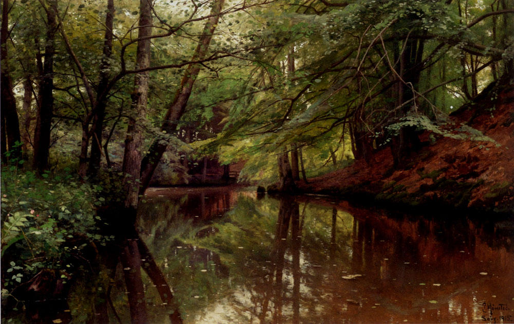 Summertime, Saeby by Peder Mork Monsted (1859-1941, Denmark) | Famous Paintings Reproductions | WahooArt.com