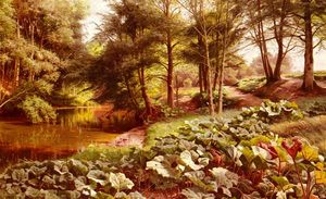 Peder Mork Monsted - The Path On The River's Edge