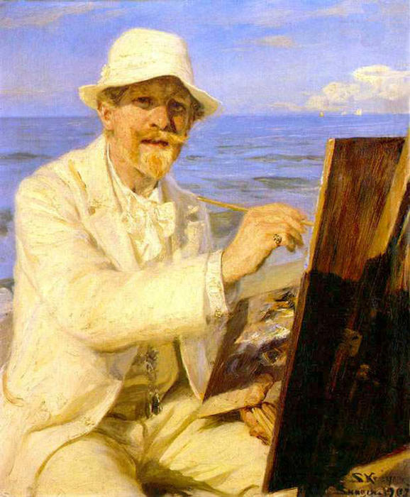 Autorretrato del pintor by Peder Severin Kroyer (1851-1909, Norway) | Oil Painting | WahooArt.com