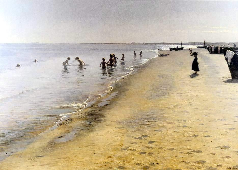Día de verano en Skagen, Oil by Peder Severin Kroyer (1851-1909, Norway)