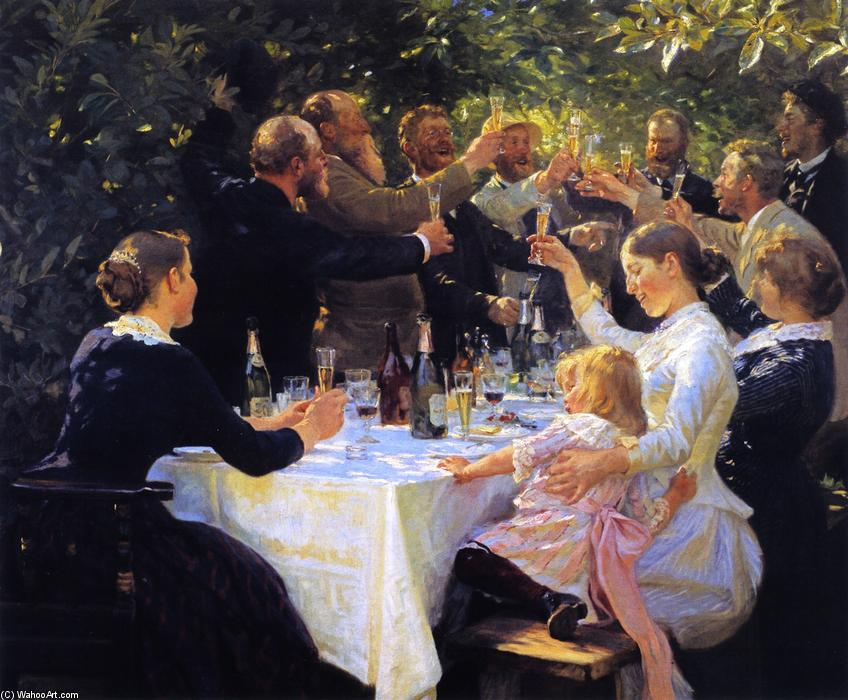 Hip, Hip, Hurrah!, Oil On Canvas by Peder Severin Kroyer (1851-1909, Norway)