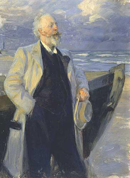 Hølger Drachman by Peder Severin Kroyer (1851-1909, Norway) | Oil Painting | WahooArt.com
