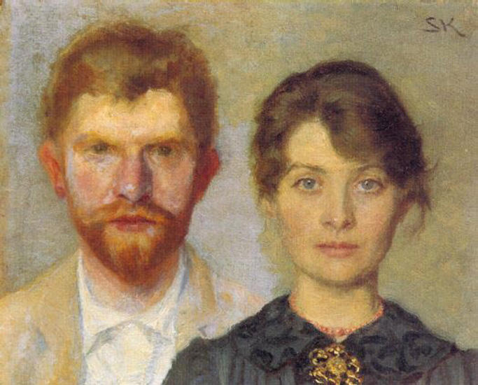 Retrato del matrimonio by Peder Severin Kroyer (1851-1909, Norway) | Oil Painting | WahooArt.com