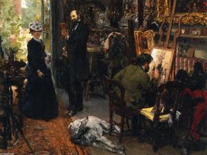 Adolph Menzel - Meissonier in his Studio at Poissy