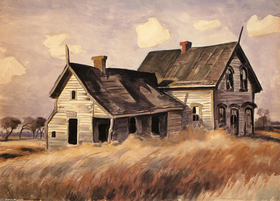 Abandoned Farmhouse Drawing By Charles Ephraim Burchfield
