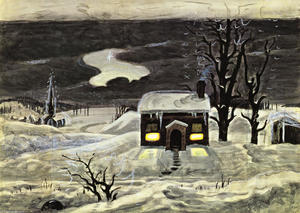 Charles Ephraim Burchfield - Cloud And Lonely Farmhouse