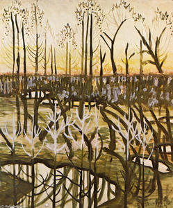 Charles Ephraim Burchfield - March Pools At Twilight