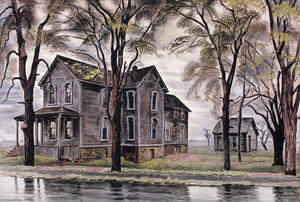 Charles Ephraim Burchfield - Old House And Elm Trees