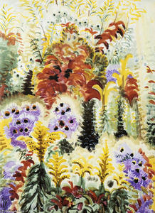 Charles Ephraim Burchfield - Purple Scarlet And Gold