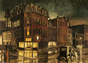 Charles Ephraim Burchfield - Rainy Night