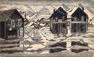 Charles Ephraim Burchfield - Wires Down (Ice Storm)