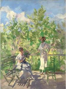 Konstantin Alekseyevich Korovin - Afternoon tea on the terrace