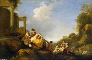 Cornelis Van Poelenburgh - Landscape with Diana and Callisto