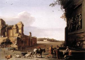 Cornelis Van Poelenburgh - Ruins of Ancient Rome