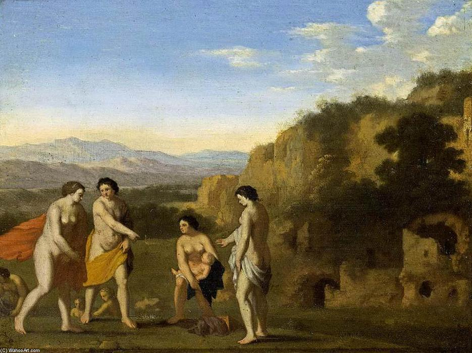 The Finding of Moses by Cornelis Van Poelenburgh (1595-1667, Netherlands) | WahooArt.com