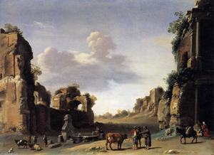 Cornelis Van Poelenburgh - View of the Campo Vaccino