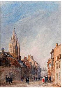 David Cox - A French Street
