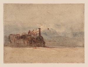 David Cox - A Railway Engine