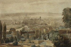 David Cox - A View Of Bath From Beacon Hill