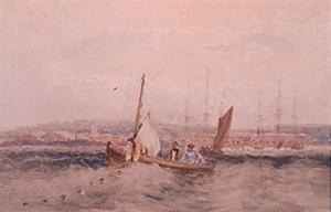 David Cox - Boats On The Medway At Chatham, Kent