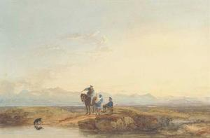 David Cox - Figures In Highland Dress