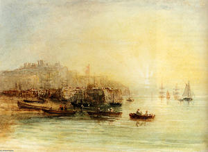 David Cox - Fishing Boats At Dover