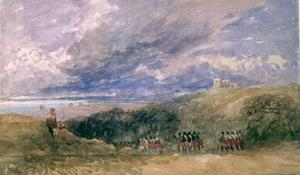 David Cox - Peace And War, Lympne Church And Castle