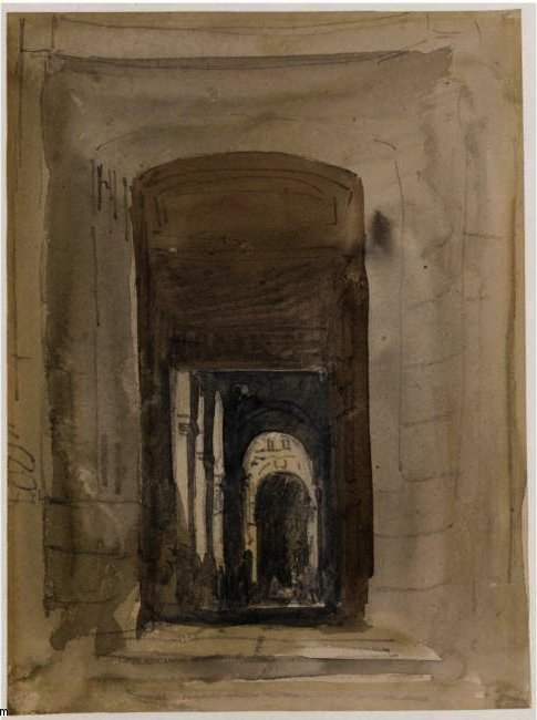 Study For The Door Of The Church Of Saint-Roch, Paris, Drawing by David Cox (1783-1859, United Kingdom)