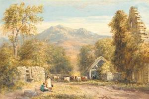David Cox - View From Kymmer Abbey, North Wales