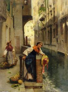 David Roberts - Fruit Sellers from the Islands, Venice