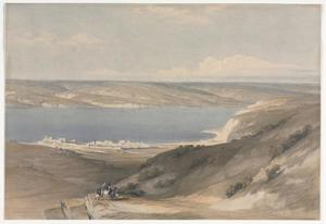 David Roberts - Sea Of Galilee At Genezareth Looking Towards Bashan