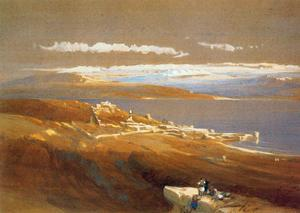 David Roberts - The city of Tiberias in the Sea of Galilee