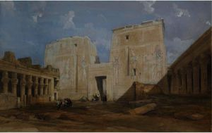 David Roberts - The Temple Of Philae, Egypt