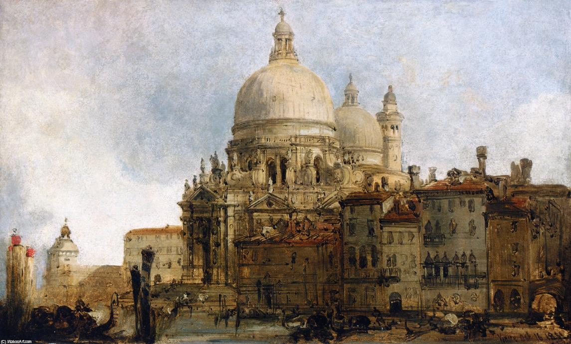 View Of The Church Of Santa Maria Della Salute, On The Grand Canal, Venice, With The Dogana Beyond, Drawing by David Roberts (1796-1864, United Kingdom)