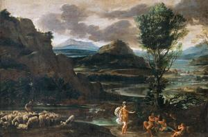 Domenichino (Domenico Zampieri) - Erminia among the Shepherds