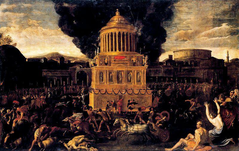 Funeral of an emperor, Drawing by Domenichino (Domenico Zampieri) (1581-1641, Italy)