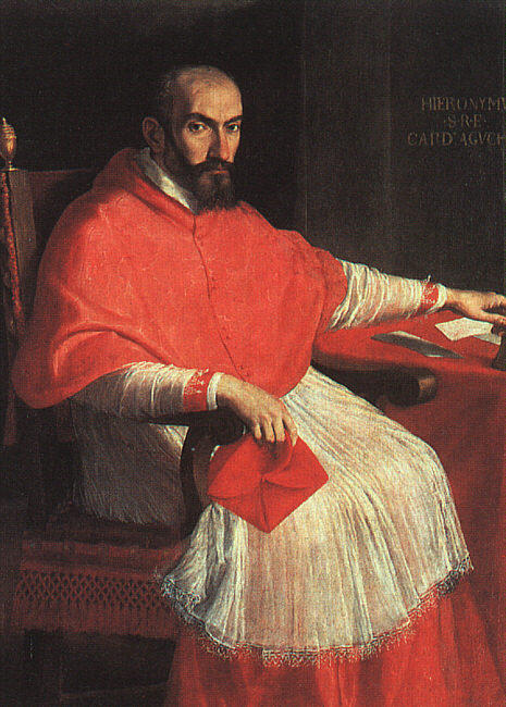 Order Museum Quality Reproductions : Portrait of Cardinal Agucchi by Domenichino (Domenico Zampieri) (1581-1641, Italy) | WahooArt.com