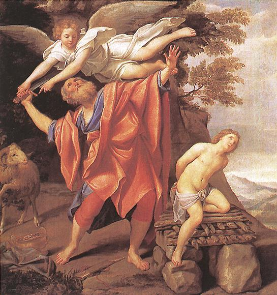 The Sacrifice of Isaac, Drawing by Domenichino (Domenico Zampieri) (1581-1641, Italy)