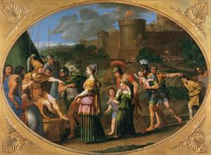 Domenichino (Domenico Zampieri) - Timoclea Captive Brought before Alexander