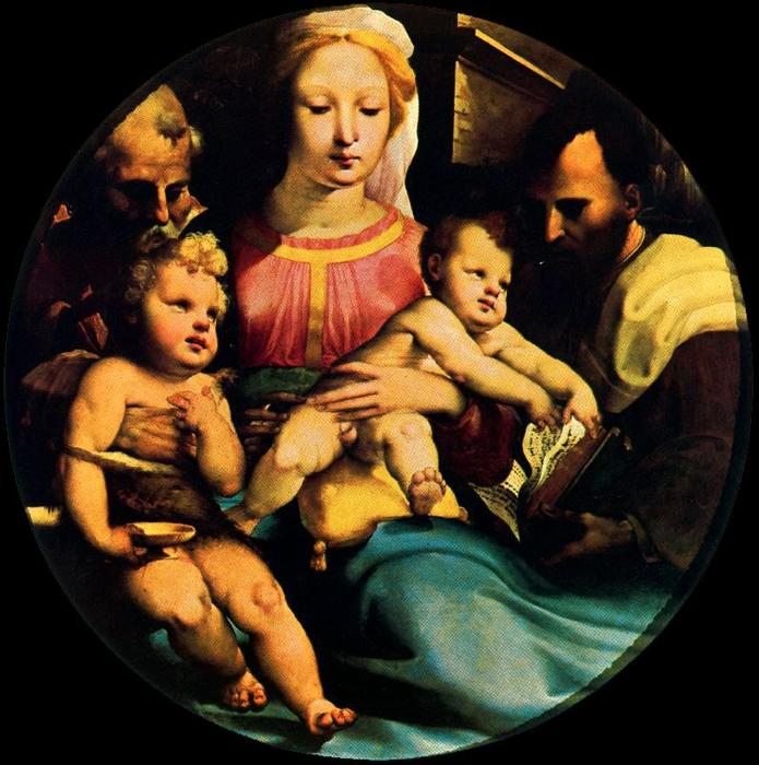 Holy Family with St. John and a donor by Domenico Di Pace Beccafumi (1486-1551, Italy) | WahooArt.com