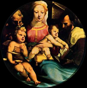 Domenico Di Pace Beccafumi - Holy Family with St. John and a donor