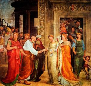 Domenico Di Pace Beccafumi - Marriage of the Virgin