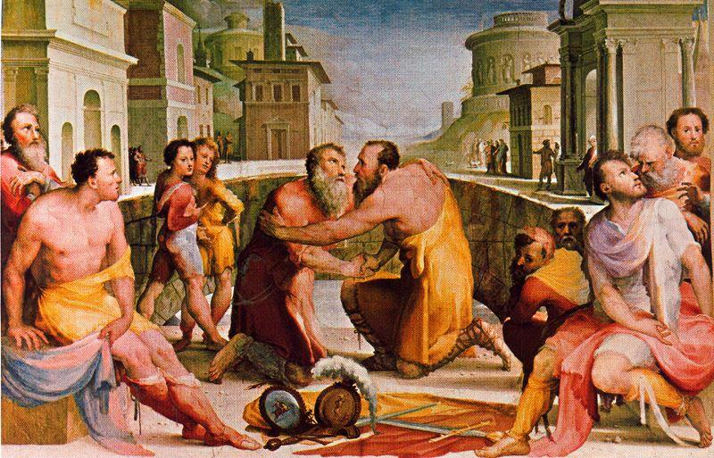 Reconciliation of Lepidus and Flacco by Domenico Di Pace Beccafumi (1486-1551, Italy) | WahooArt.com