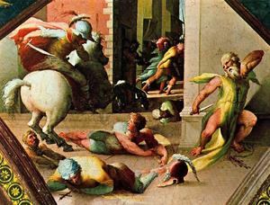 Domenico Di Pace Beccafumi - The suicide of Cato Utica
