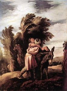 Domenico Feti (Domenico Fetti) - Parable of the Good Samaritan