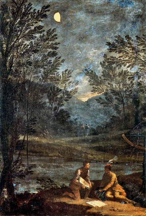 Astronomical Observations. Mercury by Donato Creti (1671-1749, Italy) | Oil Painting | WahooArt.com