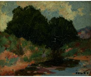 Eanger Irving Couse - New Mexican Stream