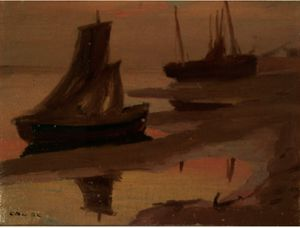 Eanger Irving Couse - Sails At Dusk