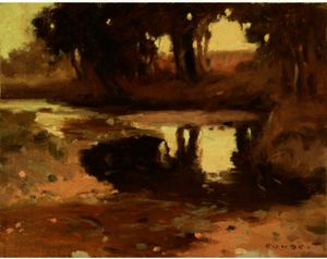 Eanger Irving Couse - Tree Reflections