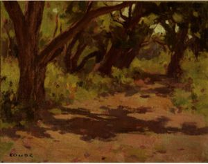 Eanger Irving Couse - Trees And Shadows